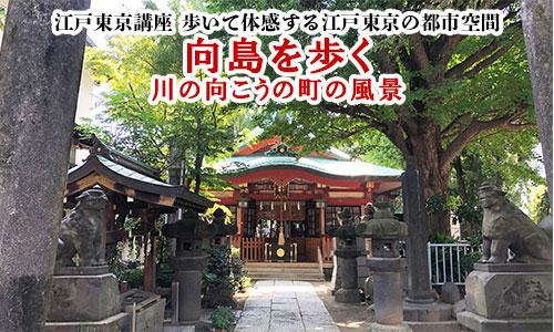 江戸東京講座 歩いて体感する江戸東京の都市空間 江戸下町の郊外 向島を歩く
