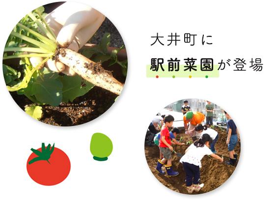 大井町に駅前菜園が登場